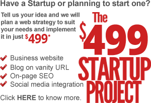 The $199 startup project: Business website + Hosting + Blog + SEO + Socila media integration for $199